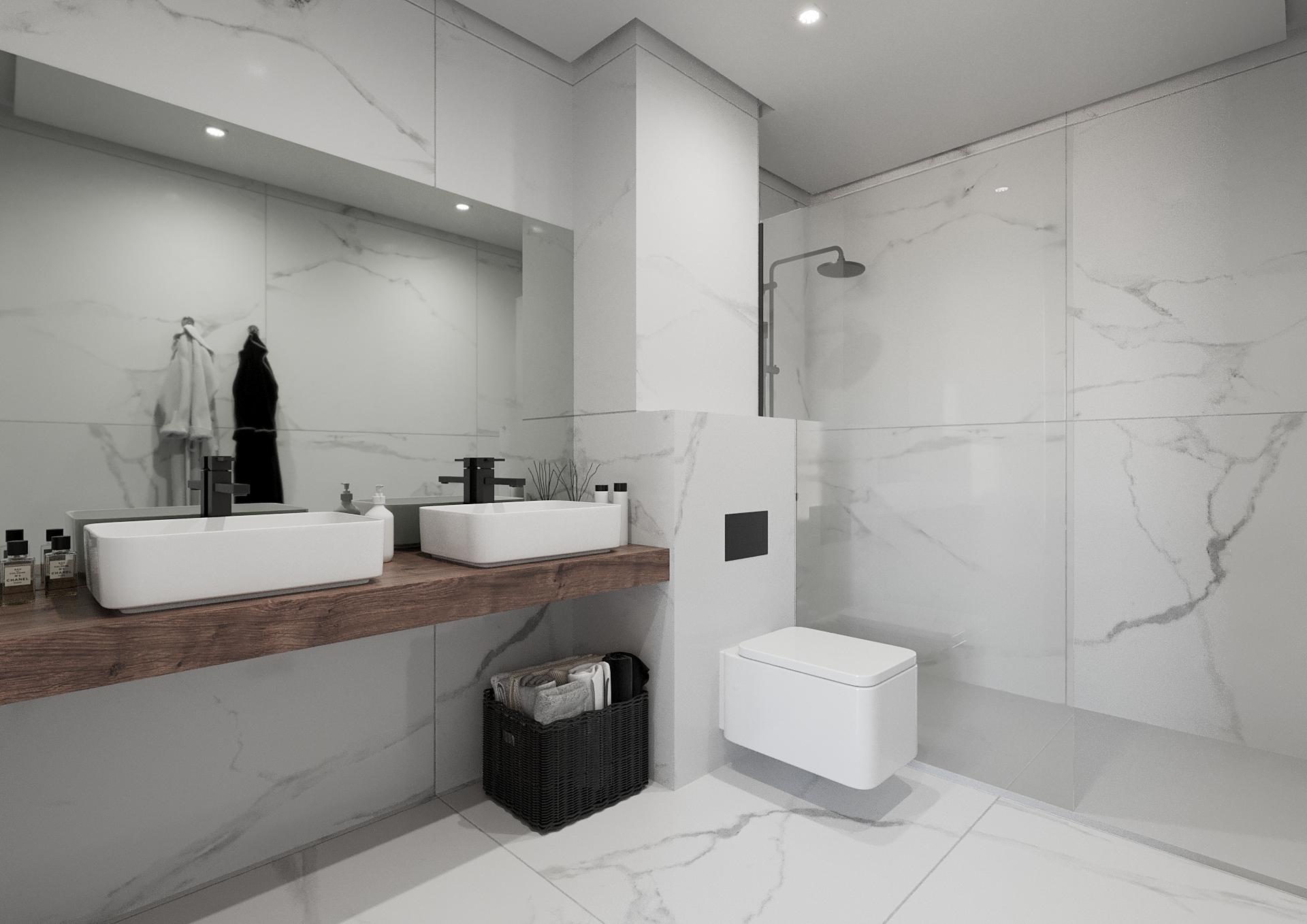 Baño en vivienda de lujo