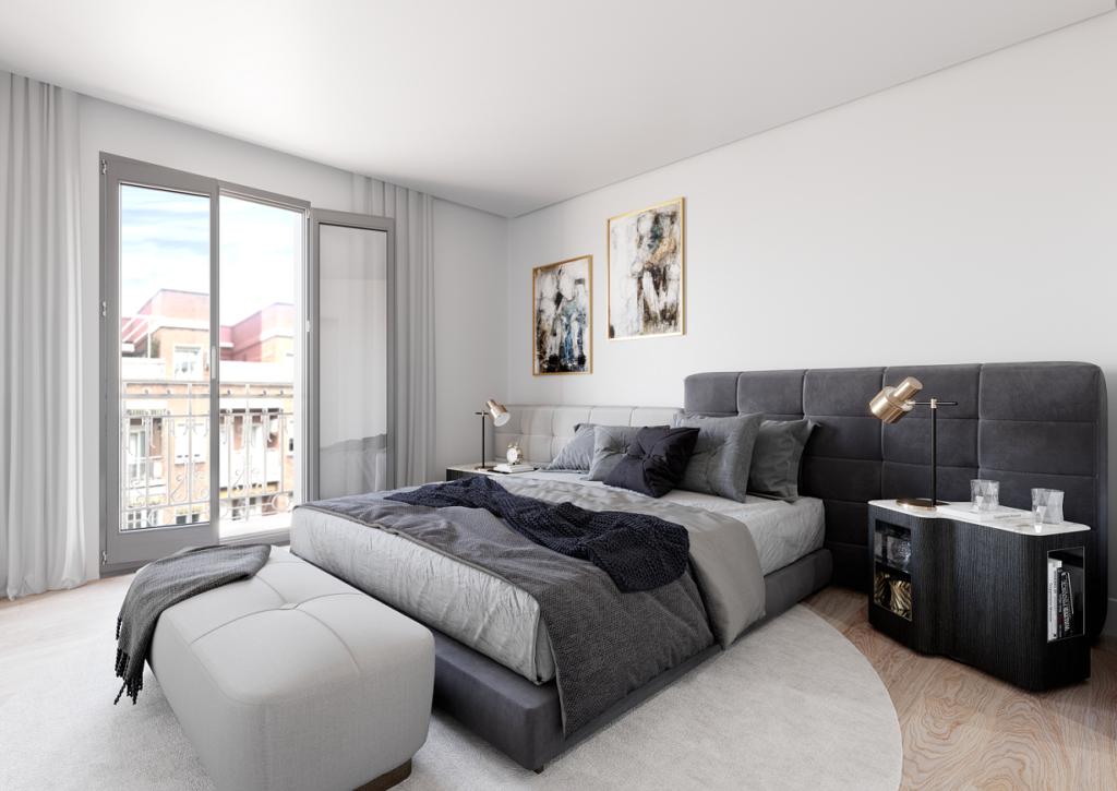 Dormitorio en vivienda de lujo